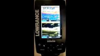 Full-color fishfinder lowrance hook 4x wireless chirp