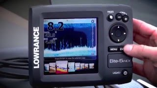 Lowrance elite-5 fishfinder gps chartplotter manual