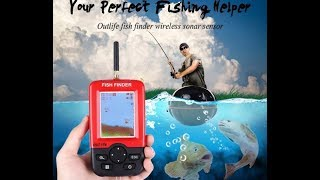 Outlife smart portable depth fish finder with 100 m инструкция