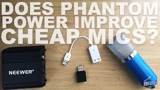 Phantom power adapter for 9 to 52 volts