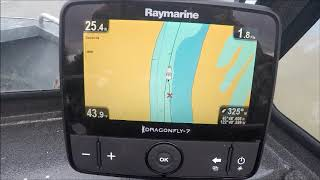C map on raymarine dragonfly pro 500