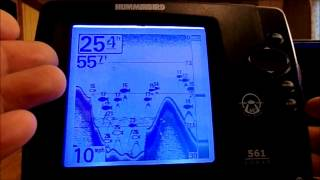 Humminbird 570 fishfinder dual beam plus sonar