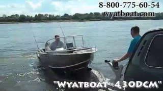 Новая моторная лодка тримаран wyatboat 430dcm